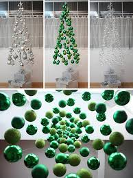 diy suspended ornament tree decoration ideas