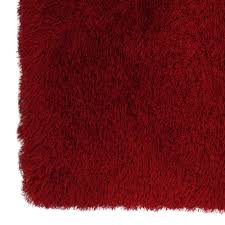 Marshalls Area Rugs Solid Red Senses Shag Accent Rug 27 X 42 In At Home At Home