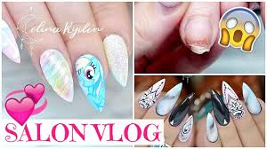 salon vlog hippieshake my little pony nails and fixing a broken