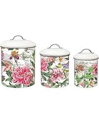 kitchen canister set deal alert michel design works 3 metal kitchen canister set