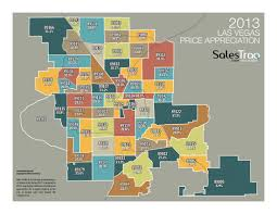 Las Vegas Zip Codes Map by Historical Price Appreciation Salestraq