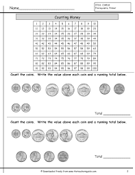 Worksheet Works Com Counting Coins Worksheets From The Teacher U0027s Guide