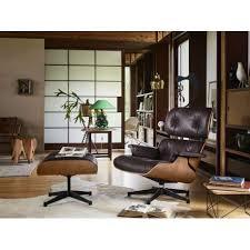 buy vitra lounge chair u0026 ottoman xl american cherry by charles