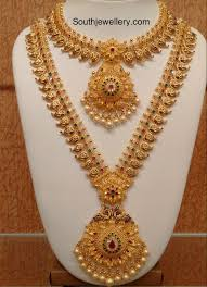 necklace designs images Mango necklace and long haram set jewellery designs jpg