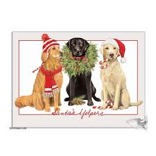 bottman cards santa s yelpers dog christmas cards dog cards