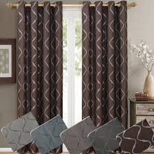 Grommet Top Valances Laguna Jacquard Curtain Panels Top Grommets Pair Contemporary