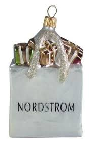 nordstrom shopping bag ornament cheer