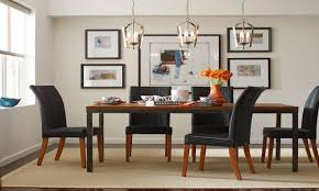 room view pendant lighting over dining room table home interior