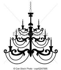 Baroque Chandelier Classic Baroque Chandelier On White Background Luxury Decor