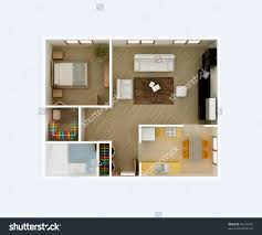 3d model floor plan 2d furniture floorplan top down view style 3d model cgtrader com