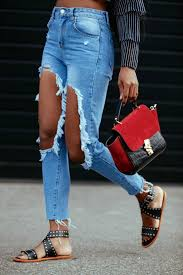 how to m how to make big holes ripped knee jeans