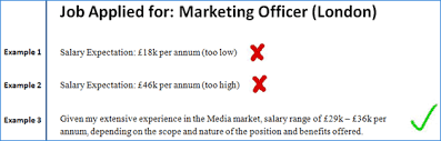 salary expectations cover letter job change