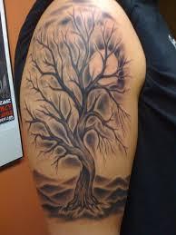 tree tattoos sleeves half sleeve picture family tree tattoos best