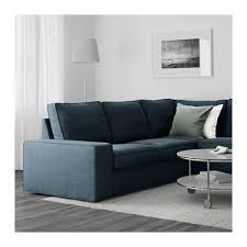 Blue Chaise Kivik Sectional 5 Seat Corner Hillared Dark Blue Ikea