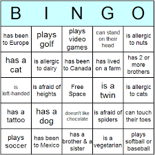 free printable ice breaker bingo cards and bingo game released by