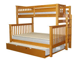 Twin And Full Bunk Beds by Bedz King Mission Twin Over Full Bunk Bed With Full Trundle