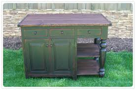 kitchen island green distressed kitchen island wood countertop