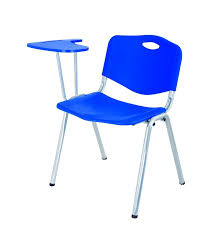 model cheap stackable plastic chair with writing pad modern