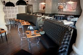 dining room elegant restaurant interior design with exciting wall