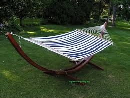 amazon com deluxe wood arc hammock stand including two person