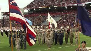 Gamecock Flag Salute To The Military Halftime South Carolina Football 2013