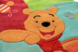 tapis ourson chambre bébé tapis enfant winnie l ourson 115x168cm tapis enfant disney de