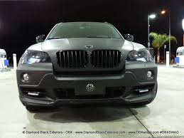 diamond bmw 2009 bmw x5 4 8is wrapped in matte black by dbx diamond black