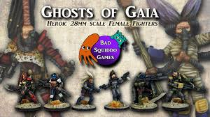the ghosts of gaia post apoc sf 28mm minis from bad squiddo games