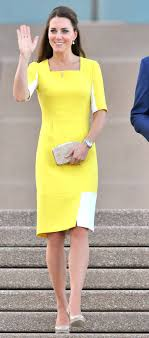 yellow dress kate middleton effect still going strong yellow dress sales
