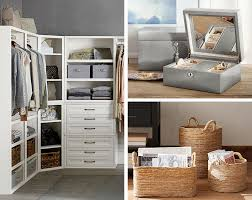 how to organize a closet for two pottery barn