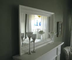 Frame A Bathroom Mirror With Molding Frame Bathroom Mirror With Crown Molding Mirror White