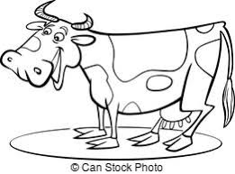 cash cow saying coloring page black and white cartoon clipart
