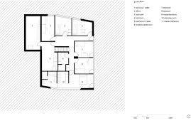swiss delight modern single family house in concrete and wood single family house on a slope view in gallery ground floor plan