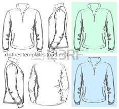 collection of women clothes outline templates royalty free