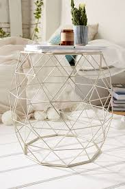 Metal Side Tables For Living Room Geometric Metal Side Table Metal Side Table Metals And Recliner