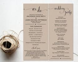 best wedding programs best 25 wedding bulletins ideas on wedding program