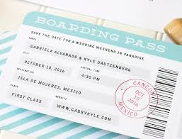 boarding pass save the date boarding pass save the date paper parcel wedding invitations