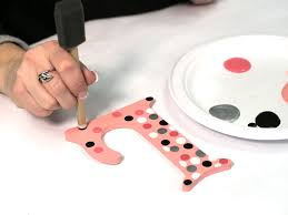 how to paint polka dots on wood letters craftcuts com