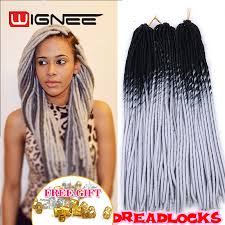 ombre crochet hairstyles 20 inch ombre black grey color faux locs crochet braids pre