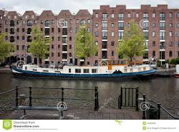 apartment buildings on entrepotdok in amsterdam royalty free stock