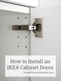 install ikea kitchen cabinet hinges how to attach an ikea sektion cabinet door simple