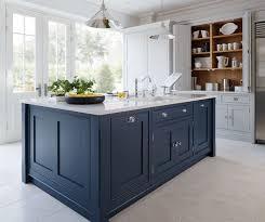 Blue Kitchen Design Kitchen Trend Painted Cabinets And Brass Hardware Bespoke