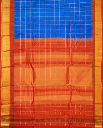 Blue Shades Handloom Pure Gadwal Silk Saree In Sky Blue Shade Telangana