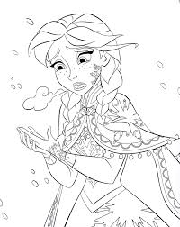 walt disney coloring pages princess anna walt disney characters