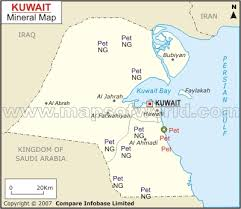 kuwait on a map kuwait mineral map resources of kuwait