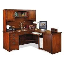 Kathy Ireland L Shaped Desk Kathy Ireland By Martin Mission Pasadena L Shape Desk With Hutch