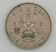 1951 great britain 1 shilling king george vi property room