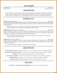 chef resume exle sle resume for a chef gallery of cover letter