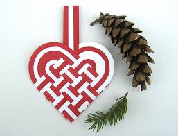 danish woven heart baskets set of 4 or christmas ornament
