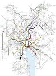 Portland Light Rail Map by Metro Transit Maps